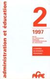 AFAE - Administration et Education N° 74, 2e trimestre : Le contrôle et l'efficacité pédagogique.