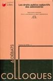 AFDA - Les droits publics subjectifs des administrés.