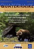 Alain Argant et Jacqueline Argant - Quaternaire Hors-série N° 4/2011 : 16th International Cave Bear and Lion Symposium - Azé (Saône-et-Loire, France) 22-26 septembre 2010.