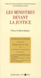 AFHJ - Les ministres devant la justice.