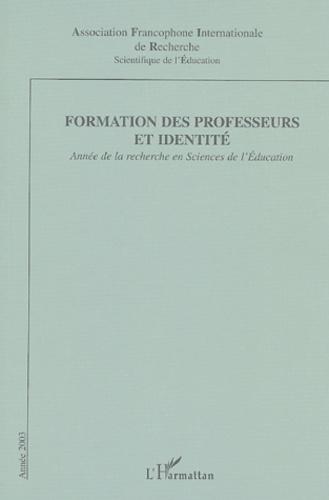 Afirse - Formation des professeurs et identité - Année de la Recherche en Sciences de l'Education.