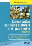 AFNOR - Conservation des biens culturels et du patrimoine - 2 volumes.