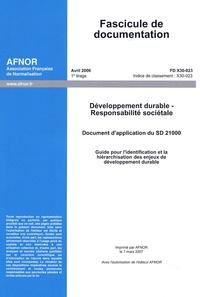 Deedr.fr Développement durable - Responsabilité sociétale - Document d'application du SD 21000 Image