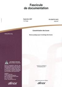 AFNOR - Fascicule de documentation FD CEN/TR 15473 Caractérisation des boues - Bonne pratique pour le séchage des boues.
