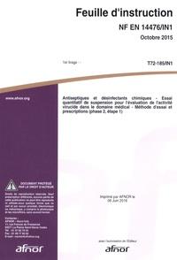 Openwetlab.it Feuille d'instruction NF EN 14476/IN1 Antiseptiques et désinfectants chimiques - Essai quantitatif de suspension pour l'évaluation de l'activité virucide dans le domaine médical - Méthode d'essai et prescriptions (phase 2, étape 1) Image
