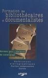 AFNOR - Formation des bibliothécaires et documentalistes - Normes pour l'épreuve de catalogage, Références bibliographiques, Parties composantes, Cartes.