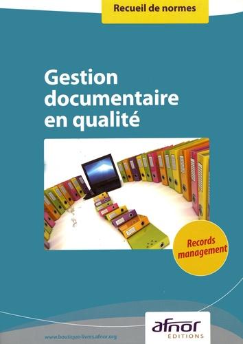 AFNOR - Gestion documentaire en qualité.