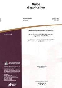 Checkpointfrance.fr Guide d'application GA X30-552 Systèmes de management de la qualité - Guide d'application de l'ISO 9001 dans des organismes de recherche : spécificités de la recherche et illustrations de l'application de l'ISO 9001 Image