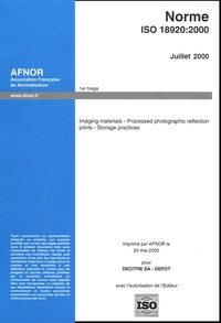 Imaging materials - Processed photographic reflection prints - Storage practices - Norme ISO 18920.pdf