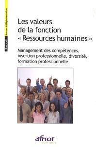 Les valeurs de la fonction Ressources humaines - Management des compétences, insertion professionnelle, diversité, formation professionnelle.pdf