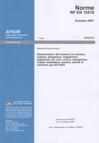 Icar2018.it NF EN 15510 - Aliments des animaux Image
