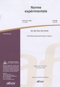 Goodtastepolice.fr Norme expérimentale air des lieux de travail - Echantillonnage passif de gazs et vapeurs Image