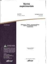 Norme expérimentale XP CEN/TS 14175-5 Sorbonnes - Partie 5 : recommandations relatives à linstallation et à la maintenance.pdf