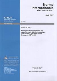 Norme internationale ISO 11885:2007 Qualité de leau - Dosage déléments choisis par spectroscopie démission optique avec plasma induit par haute fréquence (ICP-OES).pdf