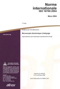 Norme internationale ISO 16700:2004 Analyse par microfaisceaux- Microscopie électronique à balayage - Lignes directrices pour l'étalonnage du grandissement d'image -  AFNOR | Showmesound.org