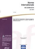 AFNOR - Norme Internationale ISO 20488 Juin 2018 - Avis en ligne de consommateurs - Principes et exigences portant sur les processus de collecte, modération et publication des avis.