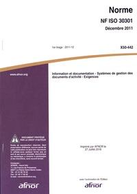 Checkpointfrance.fr Norme internationale ISO 30301:2011 Information et documentation - Système de gestion des documents d'activité : exigences Image