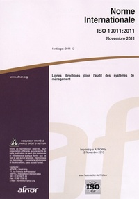 AFNOR - Norme internationale ISO 50003:2014 Systèmes de management de l'énergie - Exigences pour les organismes procédant à l'audit et à la certification de systèmes de management de l'énergie.