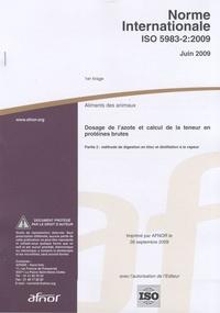 Histoiresdenlire.be Norme internationnale ISO 5983-2 : 2009 Aliments des animaux - Dosage de l'azote et calcul de la teneur en protéines brutes Image