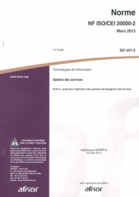 Norme ISO/CEI 20000-2 Technologies de linformation - Gestion des services Partie 2 : guide pour lapplication des systèmes de management des services.pdf