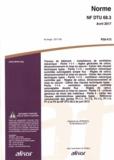 AFNOR - Norme NF DTU 68.3 Travaux de bâtiment - Installations de ventilation mécanique.