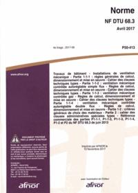 Livres gratuits sur les téléchargements de CD Norme NF DTU 68.3 Travaux de bâtiment  - Installations de ventilation mécanique