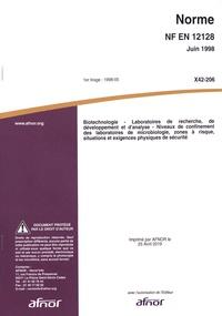 Goodtastepolice.fr Norme NF EN 12128 Biotechnologie - Laboratoires de recherche, de développement et d'analyse Image