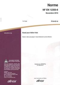 Deedr.fr Norme NF EN 12350-8 Essai pour béton frais - Partie 8 : béton auto-plaçant - Essai d'étalement au cône d'Abrams Image
