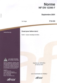 Norme NF EN 12390-7 Essai pour béton durci - Partie 7 : masse volumique du béton.pdf