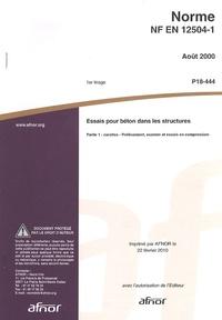 Histoiresdenlire.be Norme NF EN 12504-1 Essais pour béton dans les structures - Partie 1 : carottes - Prélèvement, examen et essais en compression Image