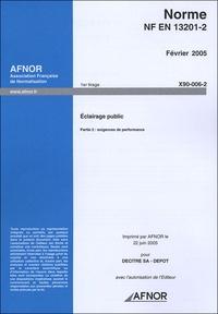 Norme NF EN 13201-2 Eclairage public - Partie 2 : exigences de performance.pdf