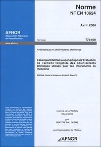 Galabria.be Norme NF EN 13624 Antiseptiques et désinfectants chimiques Image
