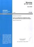 AFNOR - Norme NF EN 14328 Vêtements de protection - Gants et protège-bas protégeant contre les coupures par des couteaux électriques.