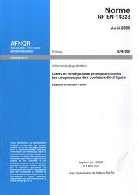 Norme NF EN 14328 Vêtements de protection - Gants et protège-bas protégeant contre les coupures par des couteaux électriques.pdf
