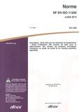 AFNOR - Norme NF EN ISO 11200 Acoustique - Bruit émis par les machines et équipements - Guide d'utilisation des normes de base pour la détermination des niveaux de pression acoustique d'émission au poste de travail et en d'autres positions spécifiées.