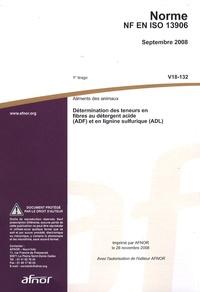 Deedr.fr Norme NF EN ISO 13906 Aliments des animaux - Détermination des teneurs en fibres au détergent acide (ADF) et en lignine sulfurique (ADL) Image