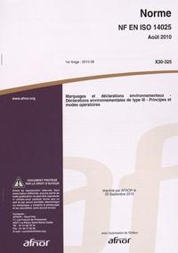 Histoiresdenlire.be Norme NF EN ISO 14025 Marquages et déclarations environnementaux - Déclarations environnementales de type III - Principes et modes opératoires Image