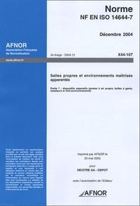 Norme NF EN ISO 14644-7 Salles propres et environnements maîtrisés apparentés - Partie 7 : dispositifs séparatifs (postes à air propre, boîtes à gants, isolateurs et mini-environnements).pdf