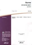 AFNOR - Norme NF EN ISO 20471 Vêtements à haute visibilité - Méthodes d'essai et exigences.