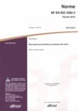 AFNOR - Norme NF EN ISO 3382-3 Acoustique - Mesurage des paramètres acoustiques des salles Partie 3 : bureaux ouverts.