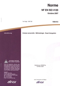 Controlasmaweek.it Norme NF EN ISO 4120 Analyse sensorielle - Méthodologie - Essai triangulaire Image