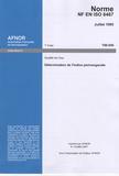 AFNOR - Norme NF EN ISO 8467 Qualité de l'eau - Détermination de l'indice permanganate.