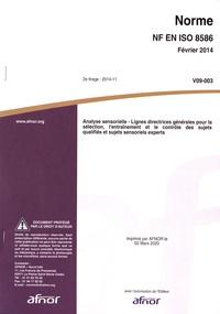 Galabria.be Norme NF EN ISO 8586 Analyse sensorielle - Lignes directrices générales pour la sélection, l'entraînement et le contrôle des sujets qualifiés et sujets sensoriels experts Image