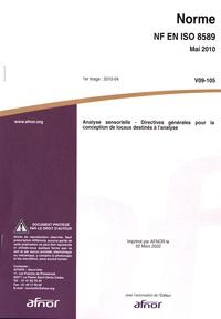 Satt2018.fr Norme NF EN ISO 8589 Analyse sensorielle - Directives générales pour la conception de locaux destinés à l'analyse Image