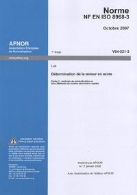 Deedr.fr Norme NF EN ISO 8968-3 Détermination de la teneur en azote (lait) - Partie 3 : méthode de minéralisation en bloc (méthode de routine semi-micro rapide) Image
