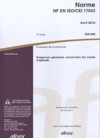 Histoiresdenlire.be Norme NF EN ISO/CEI 17043 - Evaluation de la conformité, exigences générales concernant les essais d'aptitude Image
