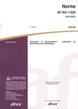 AFNOR - Norme NF ISO 11620 avril 2015 Z48-005 - Information et documentation - Indicateurs de performance des bibliothèques.