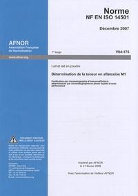 Era-circus.be Norme NF ISO 14501 Lait et lait en poudre - Détermination de la teneur en aflatoxine M1 Image