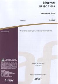 Lemememonde.fr Norme NF ISO 23509 - Géométrie des engrenages coniques et hypoïdes Image