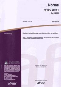 Deedr.fr Norme NF ISO 2859-1 Règles d'échantillonage pour les contrôles par attributs - Partie 1 : procédures d'échantillonnage pour les contrôles par lot, indexés d'après le niveau de qualité acceptable (NQA) Image